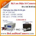 Bộ nguồn lưu điện cho 16 camera DA-16CB/45Ah 12VDC