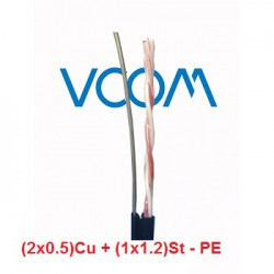 Dây thuê bao Dropwire VCOM 1 đôi, có cường lực (2x0.5)Cu - PE
