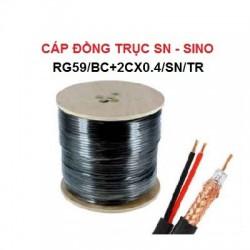 Cáp đồng trục SINO kèm nguồn,Đen, RG59/BC+2Cx0.4/SN/TR
