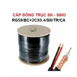 Cáp đồng trục SN SINO RG59/BC+2Cx0.4/SN/TR/CA kèm dây nguồn