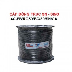 Cáp đồng trục SN SINO 4C-FB/RG59/BC/80/SN/CA kèm dây nguồn