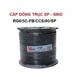 Cáp đồng trục SINO Đen, RG6/5C-FB/CCS/80/SP