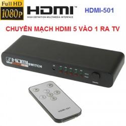 Bộ chuyển mạch gộp HDMI 5 vào 1 ra HDMI-501