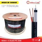 Cáp đồng trục Golden Link Premium RG59+2C, 305m