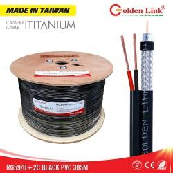 Cáp đồng trục Golden Link Premium RG59/U+2C, 100M