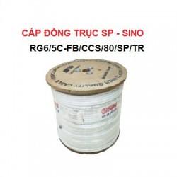 Cáp đồng trục SINO Trắng RG6/5C-FB/CCS/80/SP/TR 305m