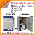 Bộ lưu điện, cấp nguồn cho camera UPS-DC12V