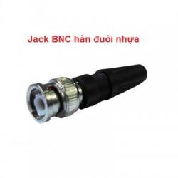 Jack BNC hàn đuôi nhựa