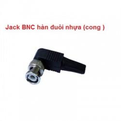 Jack BNC hàn đuôi nhựa ( Loại cong )