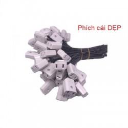 Phích cái cắm điện có dây đầu DẸP