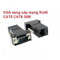 Đầu Jack chuyển đổi VGA sang cáp mạng RJ45 30M