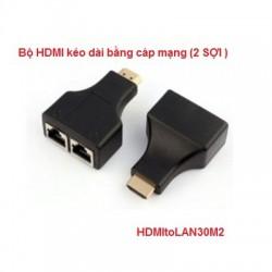 Bộ HDMI kéo dài bằng cáp mạng HDMItoLAN30M2 (2 SỢI )