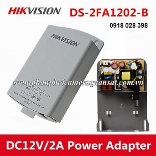 Nguồn camera hikvision 12V 2A,loại treo ngoài trời DS-2FA1202-B, đại lý, phân phối,mua bán, lắp đặt giá rẻ