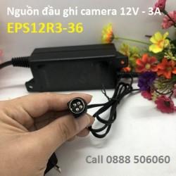 Nguồn đầu ghi camera 12V - 3A EPS12R3-36 4 chân hiệu Hikvision