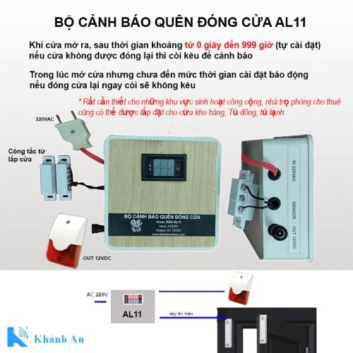 Bộ thiết bị cảnh báo quên đóng cửa KSA-AL11, đại lý, phân phối,mua bán, lắp đặt giá rẻ
