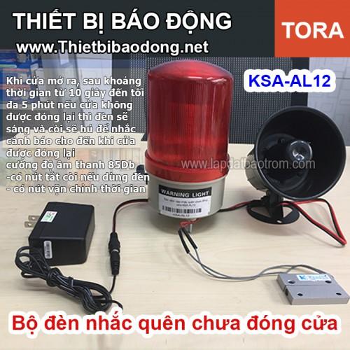 Bộ đèn cảnh báo nhắc quên chưa đóng cửa KSA-AL12 (chuẩn công nghiệp), đại lý, phân phối,mua bán, lắp đặt giá rẻ
