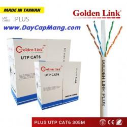 Cáp mạng Golden Link PLUS UTP Cat6 đồng nguyên chất (trắng xám) 305M