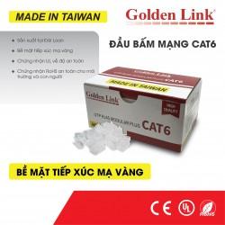 Đầu hạt bấm mạng UTP RJ45 CAT6 Golden Link (hộp 100 cái)