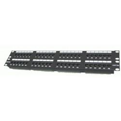 "Patch panel 48 Port, CAT.5e, 2U, 19"" rackmount 1402-03020"