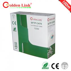 Cáp mạng Golden Link SFTP Cat 6 Platinum (xanh lá) 100M