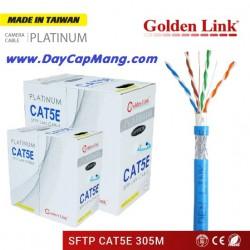 Cáp mạng Golden Link PLATINUM SFTP Cat5e (xanh dương) 305M
