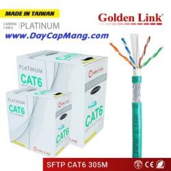 Cáp mạng Golden Link PLATINUM SFTP Cat6 (xanh lá) 305M