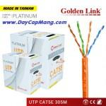 Cáp mạng Golden Link UTP Cat 5e Platinum 305M (màu cam)