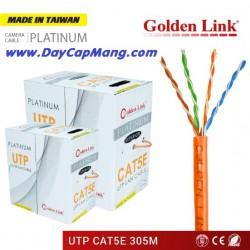 Cáp mạng Golden Link PLATINUM UTP Cat5e (màu cam) 305M