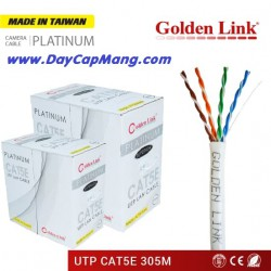 Cáp mạng Golden Link UTP Cat 5e Platinum (màu trắng) 305M