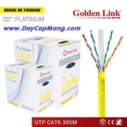 Cáp mạng Golden Link PLATINUM UTP Cat6 (màu vàng) 305M