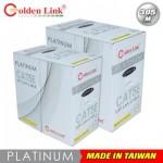 Cáp mạng Golden Link plus UTP Cat 5e Platinum (Màu trắng Xám)