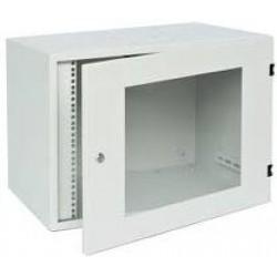 Tủ Mạng 6U Treo Tường D400, Cửa Mica, Màu Trắng