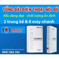 Tổng đài điện thoại ADSUN FX 208PC
