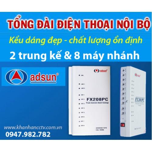 Tổng đài điện thoại ADSUN FX 208PC, đại lý, phân phối,mua bán, lắp đặt giá rẻ