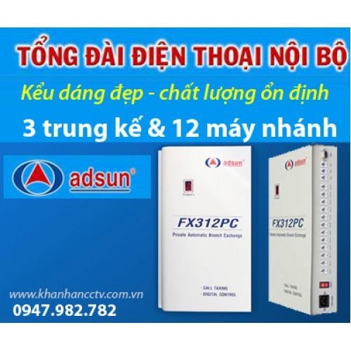 Tổng đài điện thoại ADSUN FX 312PC, đại lý, phân phối,mua bán, lắp đặt giá rẻ