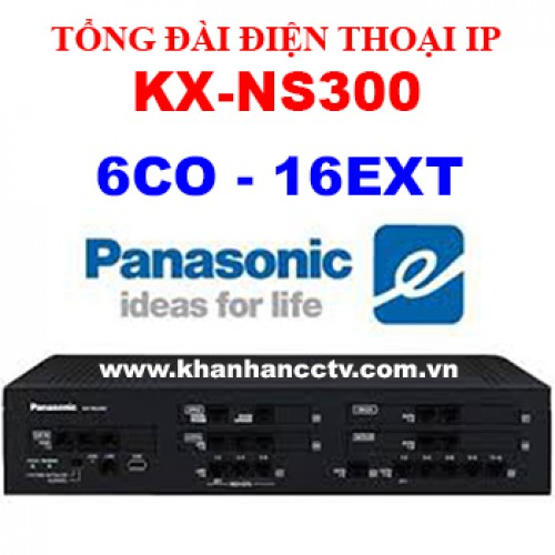 Tổng đài điện thoại IP Panasonic KX-NS300 (6 trung kế 132 nhánh), đại lý, phân phối,mua bán, lắp đặt giá rẻ