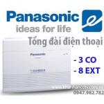 Tổng đài điện thoại Panasonic KX-TES824 (3 vào 8 ra)