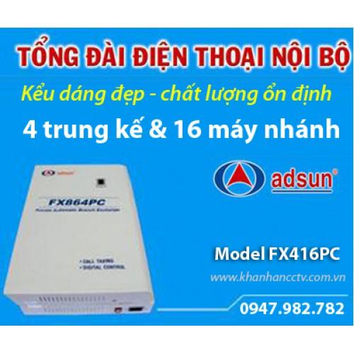 Tổng đài điện thoại ADSUN FX416PC, đại lý, phân phối,mua bán, lắp đặt giá rẻ
