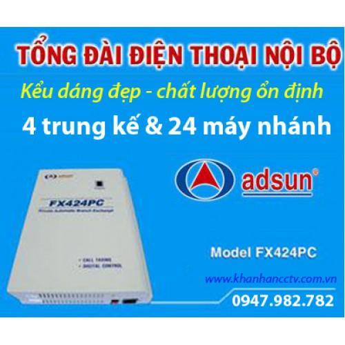 Tổng đài điện thoại ADSUN FX 424PC, đại lý, phân phối,mua bán, lắp đặt giá rẻ