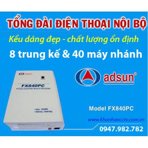 Tổng đài điện thoại ADSUN FX 840PC, đại lý, phân phối,mua bán, lắp đặt giá rẻ