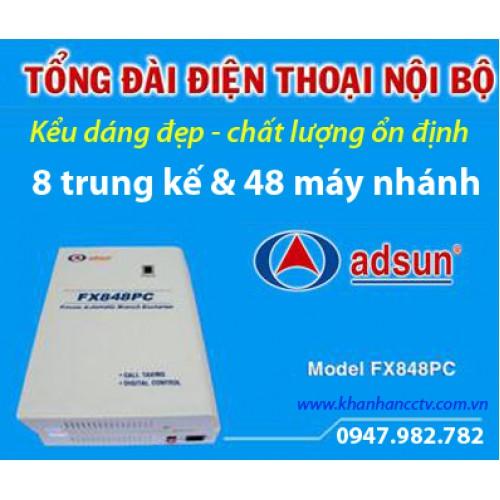 Tổng đài điện thoại ADSUN FX 848PC, đại lý, phân phối,mua bán, lắp đặt giá rẻ