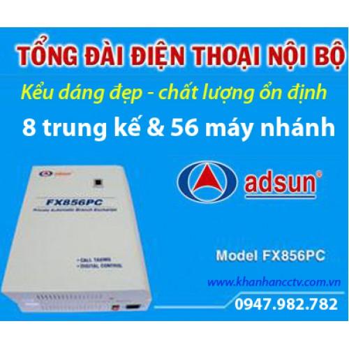 Tổng đài điện thoại ADSUN FX 856PC, đại lý, phân phối,mua bán, lắp đặt giá rẻ