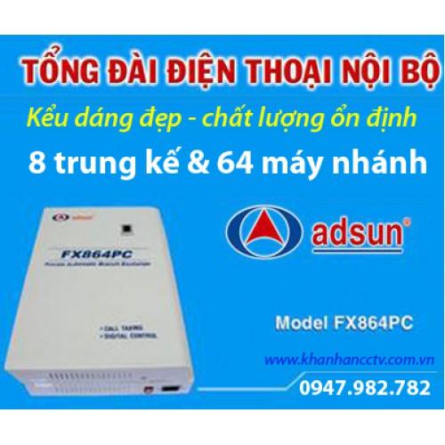 Tổng đài điện thoại ADSUN FX 864PC, đại lý, phân phối,mua bán, lắp đặt giá rẻ