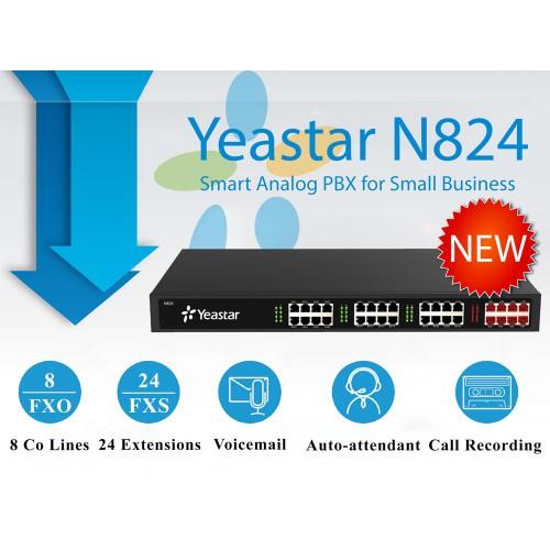 Tổng đài IP Yeastar N824-8-24, đại lý, phân phối,mua bán, lắp đặt giá rẻ