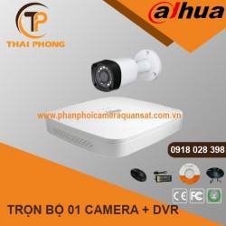 Trọn bộ 1 camera DAHUA 1.0MP CVI cho Gia đình,Cty,Văn phòng,Shop...