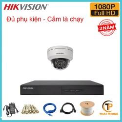 Bộ trọn gói 1 camera HIKVISION giá rẻ 2.0 MP