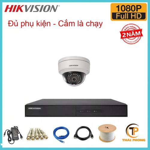 Bán trọn gói 1 camera HIKVISION giá rẻ 2.0 MP, đại lý, phân phối,mua bán, lắp đặt giá rẻ
