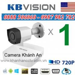 Trọn bộ 1 camera KBVISION 1.0MP CVI cho Gia đình,Cty,Văn phòng,Shop...