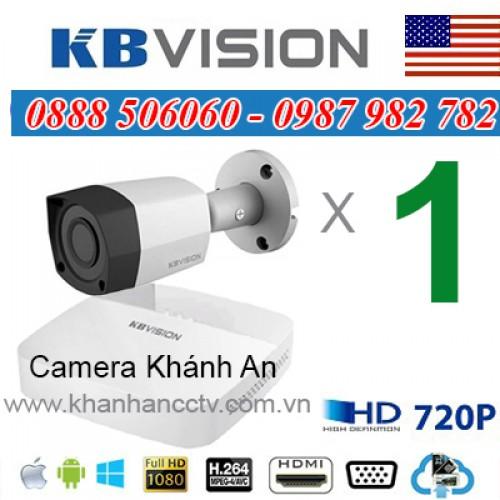 Trọn bộ 1 camera KBVISION 1.0MP CVI cho Gia đình,Cty,Văn phòng,Shop..., đại lý, phân phối,mua bán, lắp đặt giá rẻ