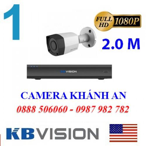Trọn bộ 1 camera KBVISION 2.0MP CVI cho Gia đình,Cty,Văn phòng,Shop..., đại lý, phân phối,mua bán, lắp đặt giá rẻ